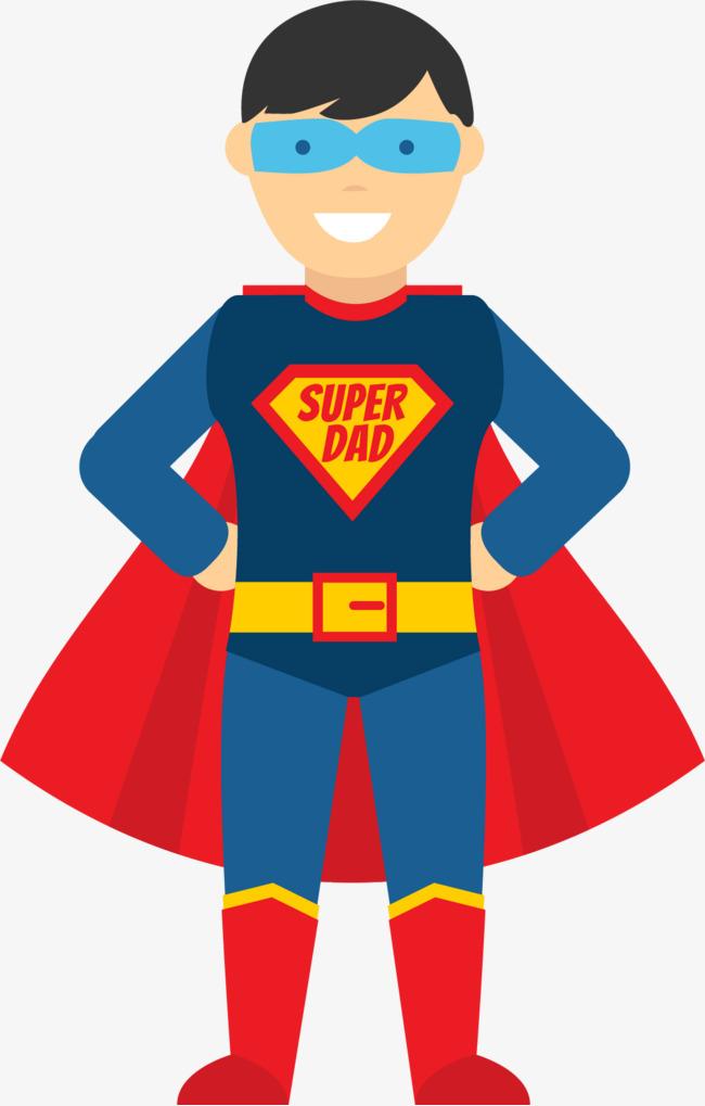 650x1019 Superhero Dad Vector Illustration, Vector Graphics, Vector, Vector