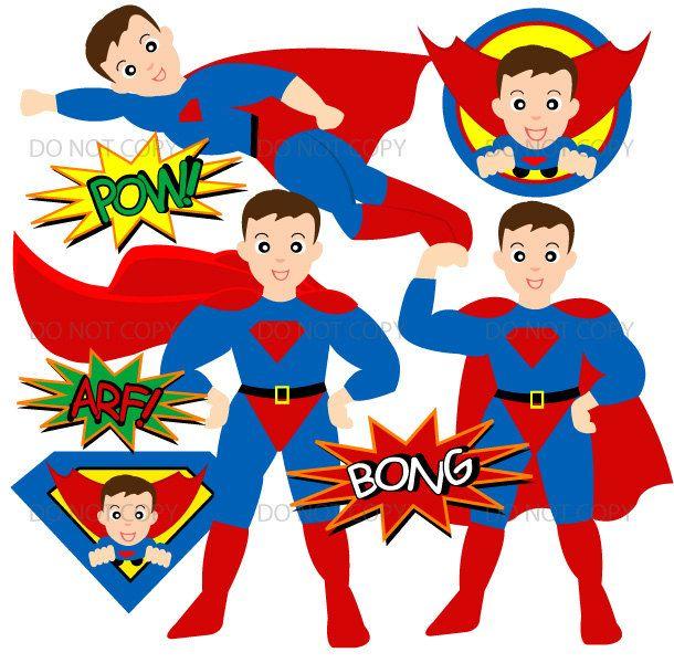 610x600 Superhero Clipart, Commercial Use, Vector Graphics, Digital Clip