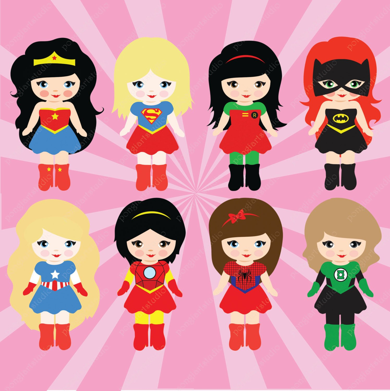 1496x1500 Superhero Clipart Commercial Use Vector Graphics Digital Etsy