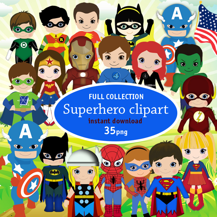 Superheroes Vector