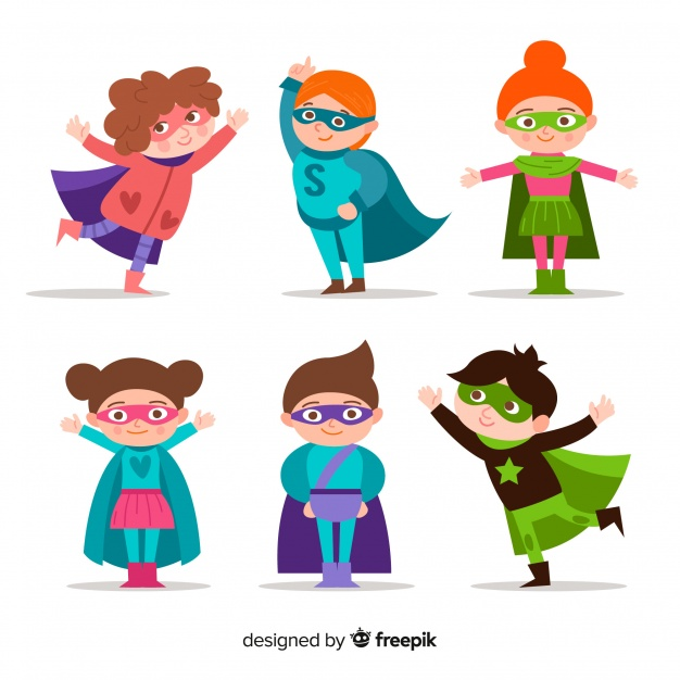 626x626 Set Of Funny Superheroes Vector Free Download