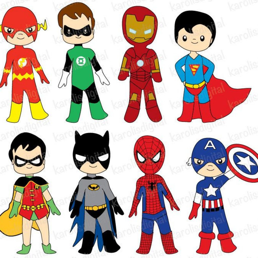 1024x1024 Superhero Clipart Free Lovely Clipart Superheroes Vector And Clip
