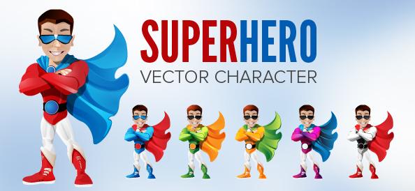 594x274 Cool Superhero Vector Character Free Vectors Ui Download