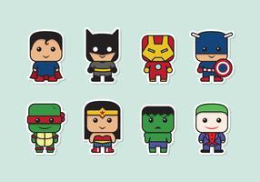 286x200 Super Heroes Free Vector Art