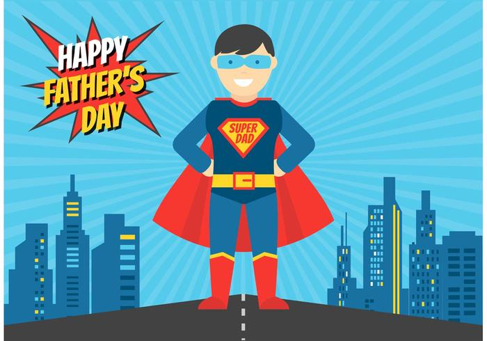 700x490 Superhero Dad Vector Illustration