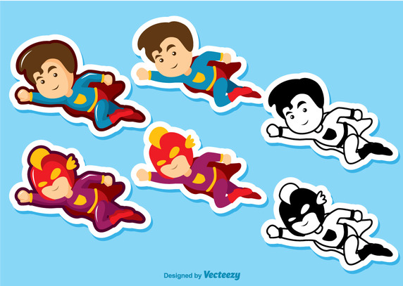 572x407 Superhero Kid Pack Vector Free Vector Download In .ai, .eps