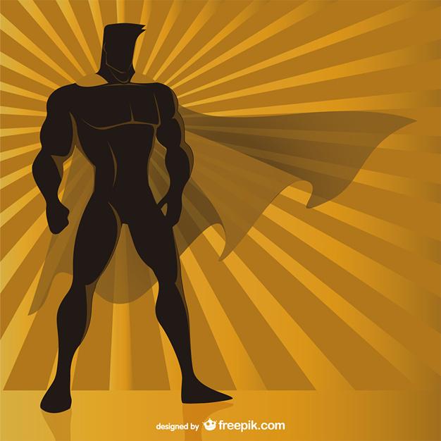 626x626 Superhero Silhouette Vector Free Download