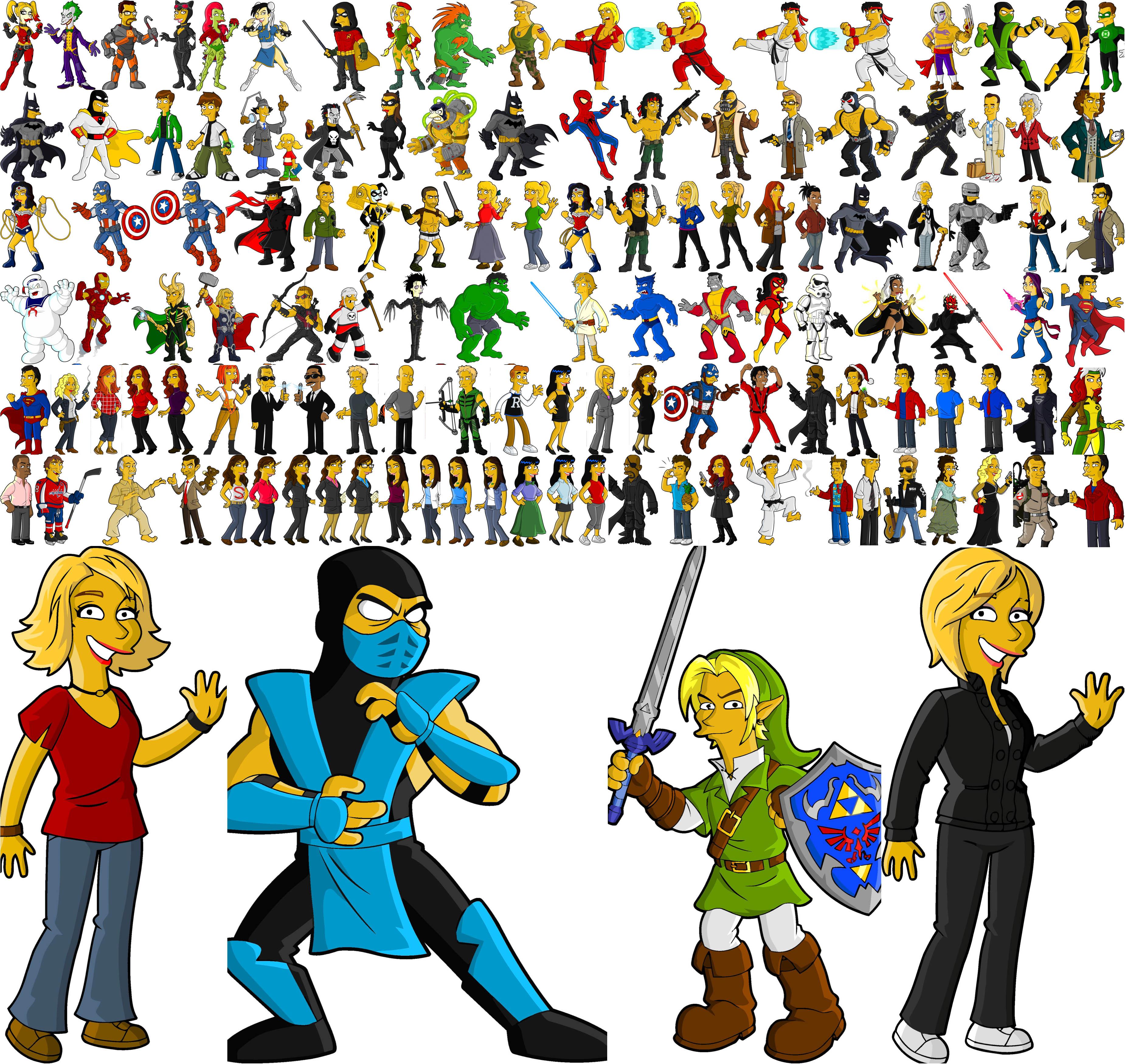 3700x3500 Superheroes Vector Free Download
