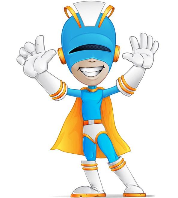 594x661 Welcoming Superhero Vector Character