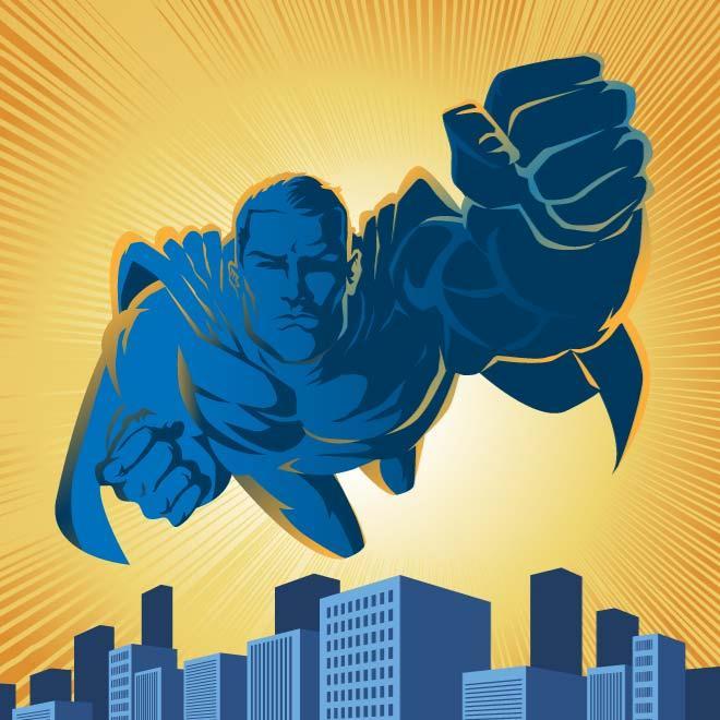 660x660 Superhero Vector Illustration Free Vectors Ui Download