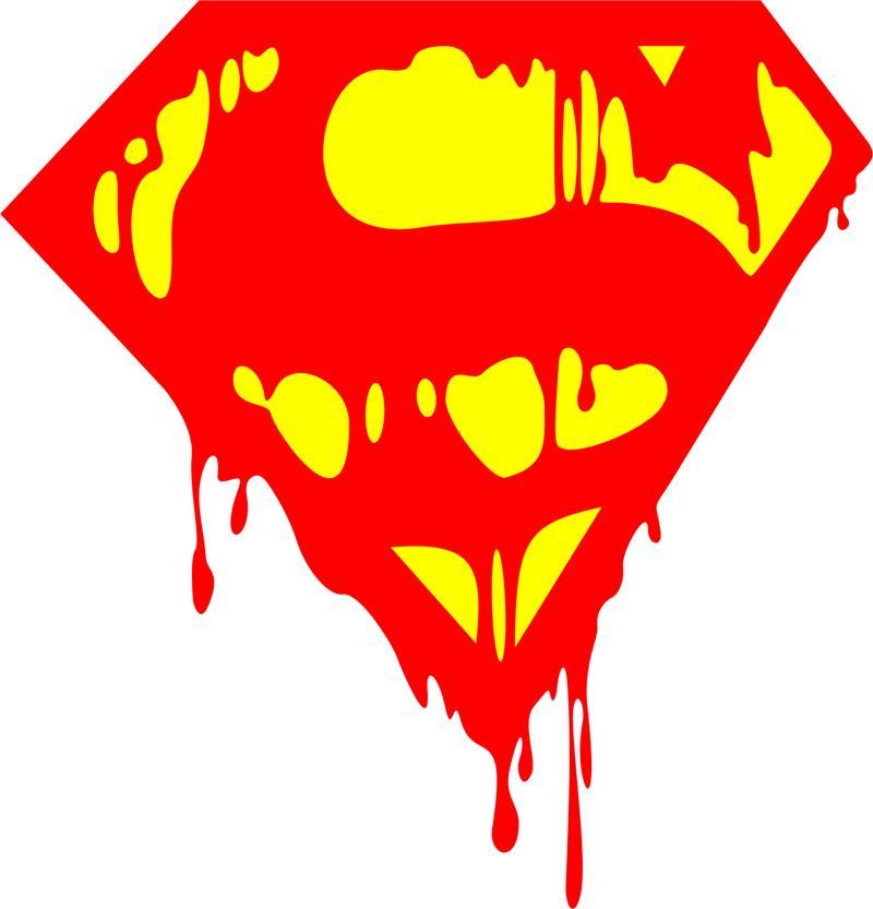 800x833 Bleeding Superman Logo Vector Free Vector Download
