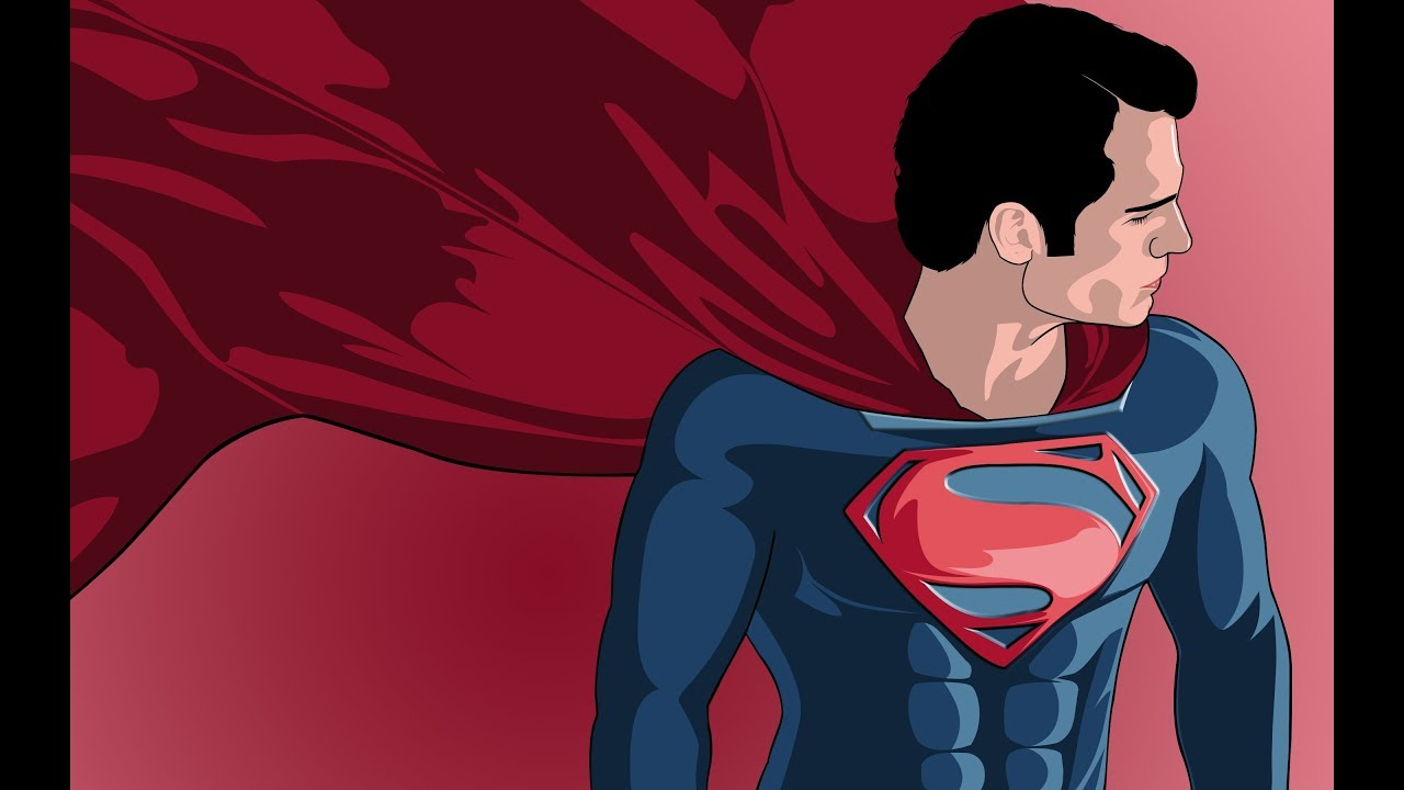 1280x720 Superman Vector Art Speed Art Photoshop