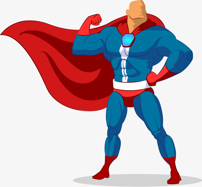 650x602 Vector Painted Superman, Superman Vector, Vector, Hand Painted Png