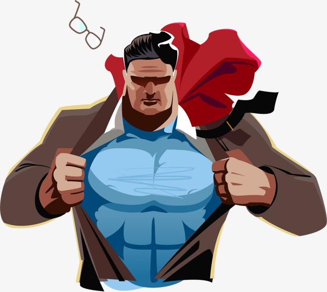 650x580 Vector Painted Undress Superman, Superman Vector, Vector, Hand