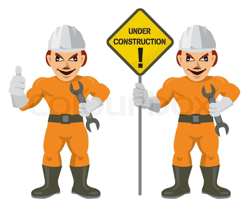 800x672 Construction Worker Superman Stock Vector Colourbox