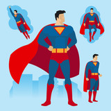 160x160 Superhero Couple Of Flat Superman And Superwoman Stock Image And