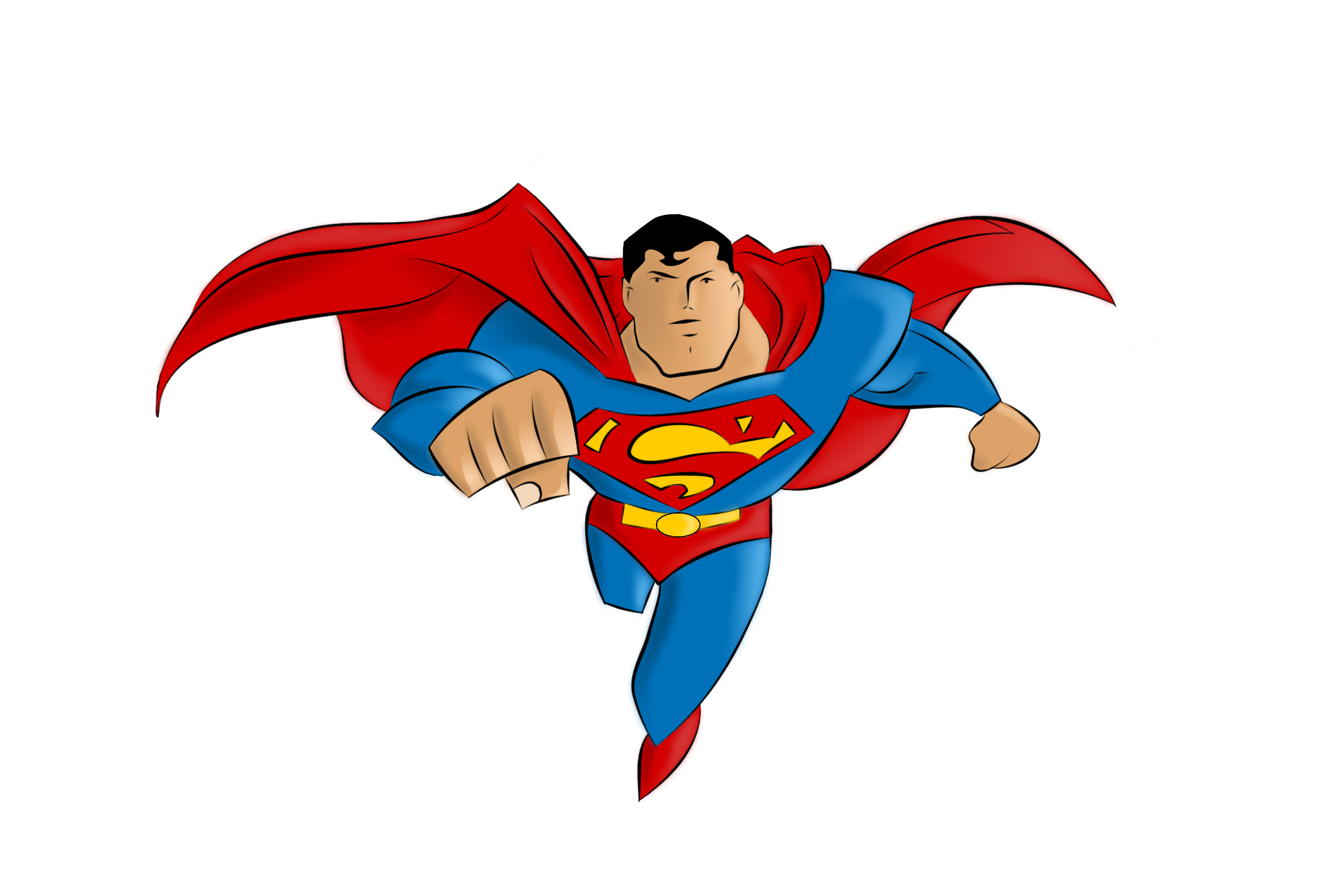 2037x1380 Superman Vector Free Download