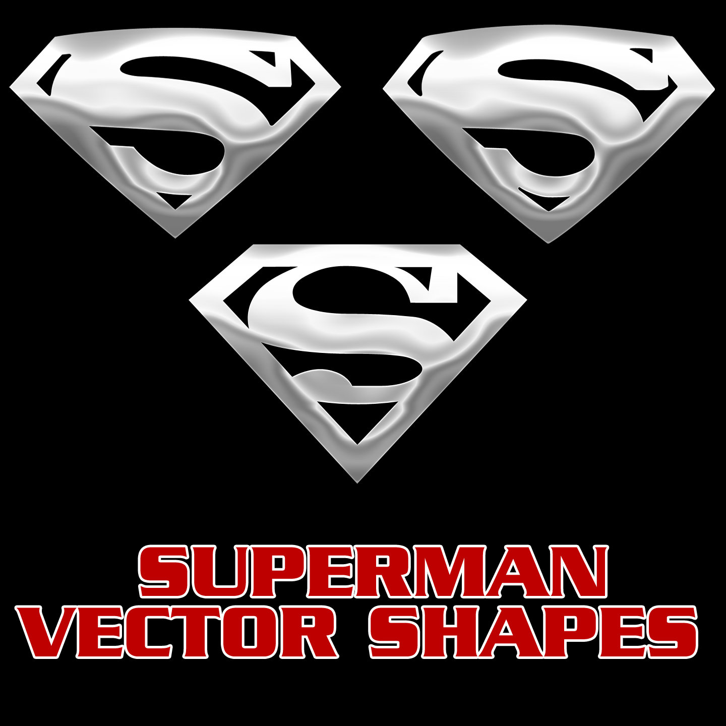 1440x1440 Superman Vector Shapes By Retoucher07030