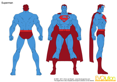 400x283 Superman Vector Drawing