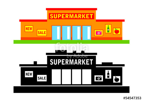 500x354 Set Of Supermarket Stock Image And Royalty Free Vector Files On