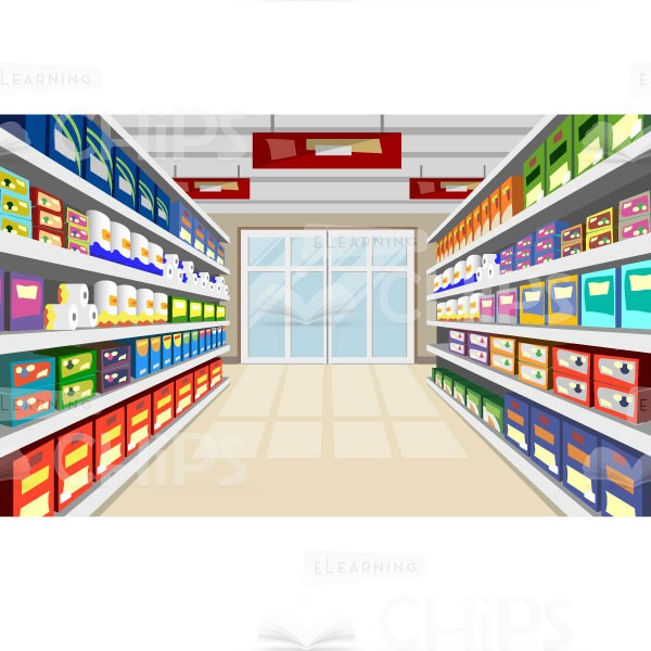 600x600 Supermarket Vector Background Package