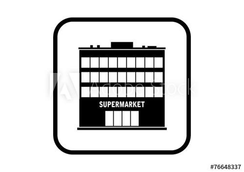 500x354 Supermarket Vector Icon On White Background