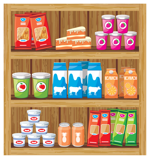 500x529 Supermarket Showcase And Food Vector Set 21 Free Download