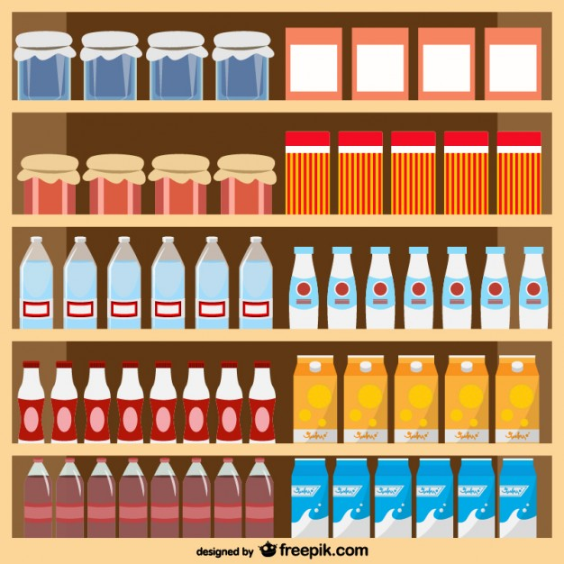 626x626 Food Products Supermarket Vector Vector Free Download