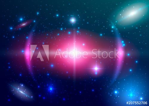 500x357 Fantasy Supernova Explosion. Colorful Galaxy. Vector Cosmic
