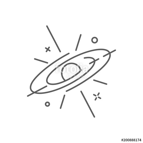 500x500 Supernova Icon, Space Logo Outline Style Stock Image And Royalty