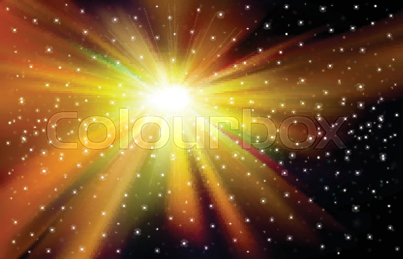 800x515 Abstract Nature Space Background With Stars And Supernova Vector