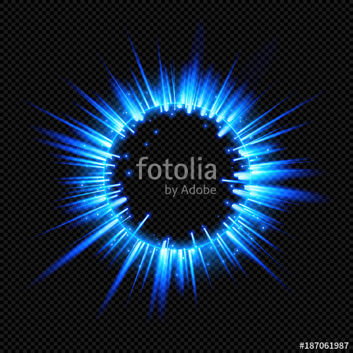 500x500 Blue Shine Starburst Flare Flash With Rays And Sparks On