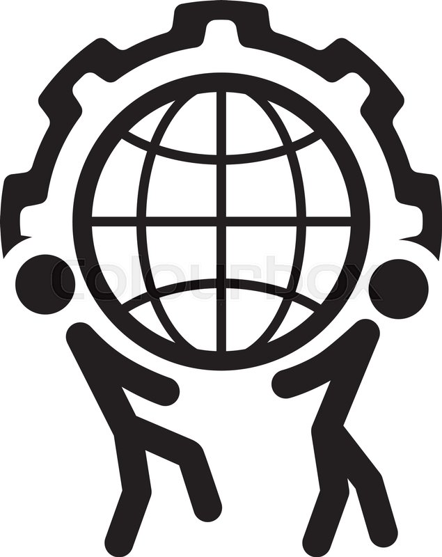 635x800 Global Support Icon. Flat Design. Business Concept. Isolated