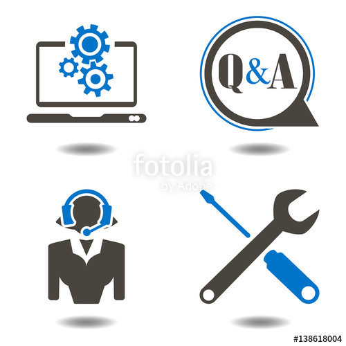 500x500 Technical Support Icons. Web Telemarketing Technician Vector Icon