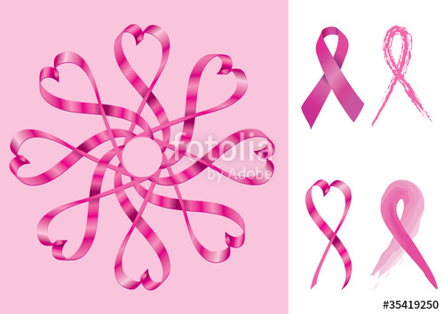 500x354 Breast Cancer Support Ribbons