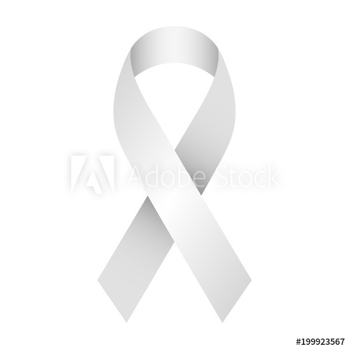 500x500 Gray And Silver Support Ribbon For Awareness Campaigns And Charity