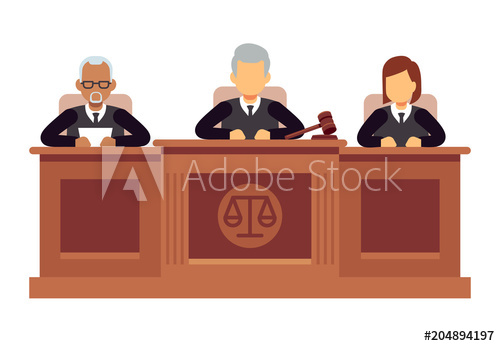 500x346 Federal Supreme Court With Judges. Jurisprudence And Law Vector