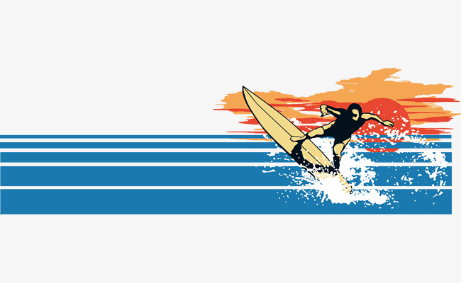 650x400 Passion Summer Sea Surf Vector Material, Summer Creative, Sea