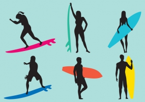285x200 Surf Silhouette Free Vector Graphic Art Free Download (Found