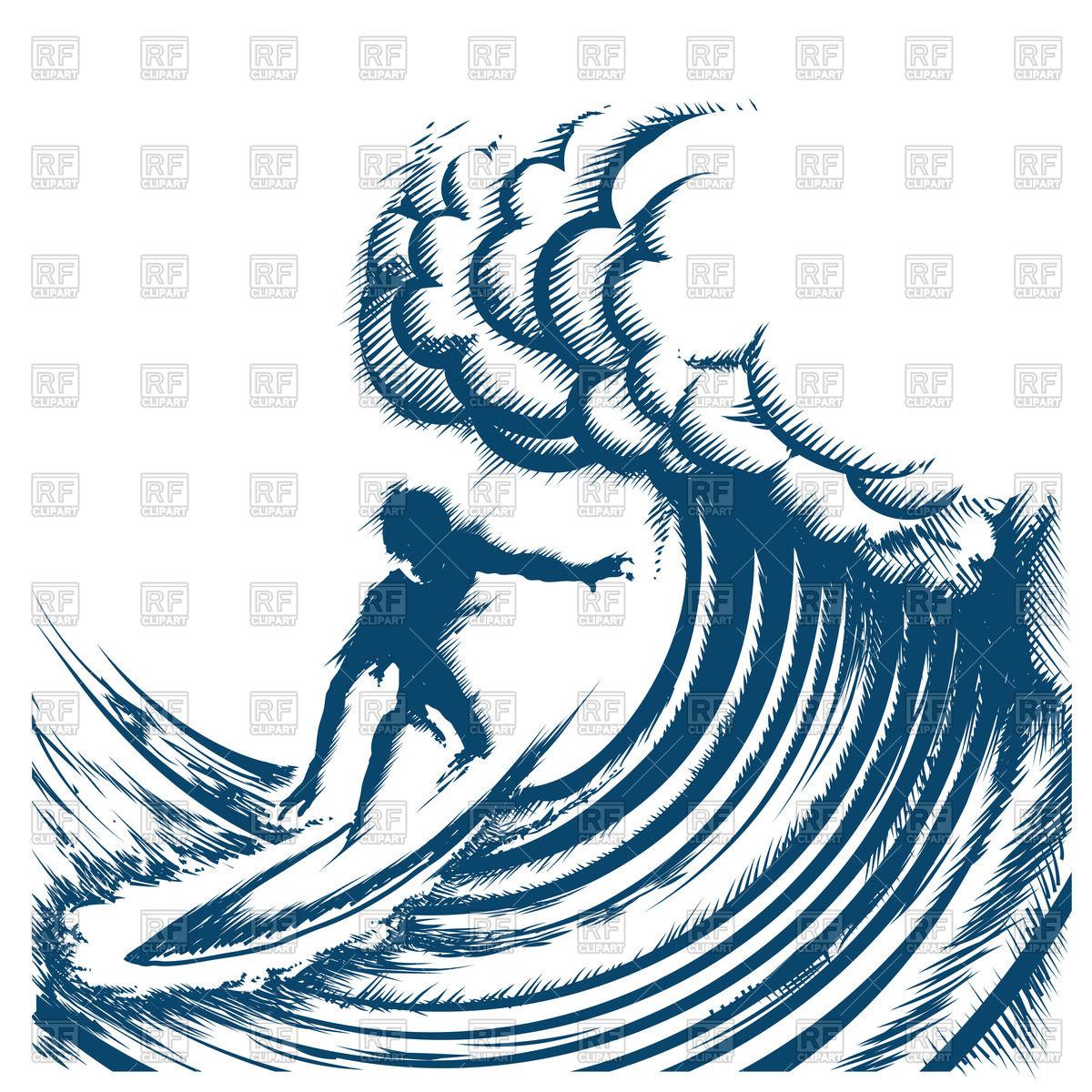1200x1200 Surfer Riding A Big Wave
