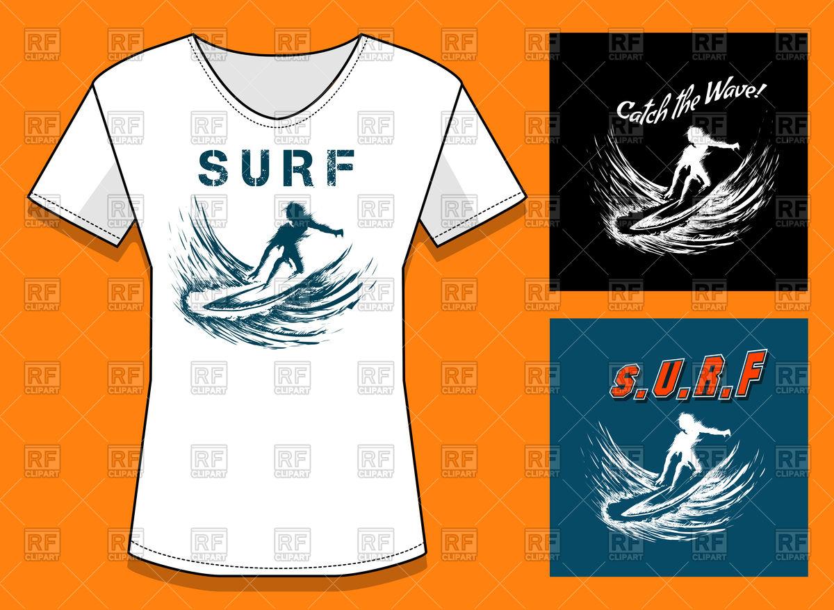 1200x878 T Shirt Surf Print Design Vector Image Vector Artwork Of Design