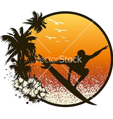 380x400 Free Surf Vector Surf Board Colouring