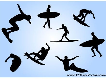440x330 Free Surf Vectors Free Svg Files Surf, Silhouettes