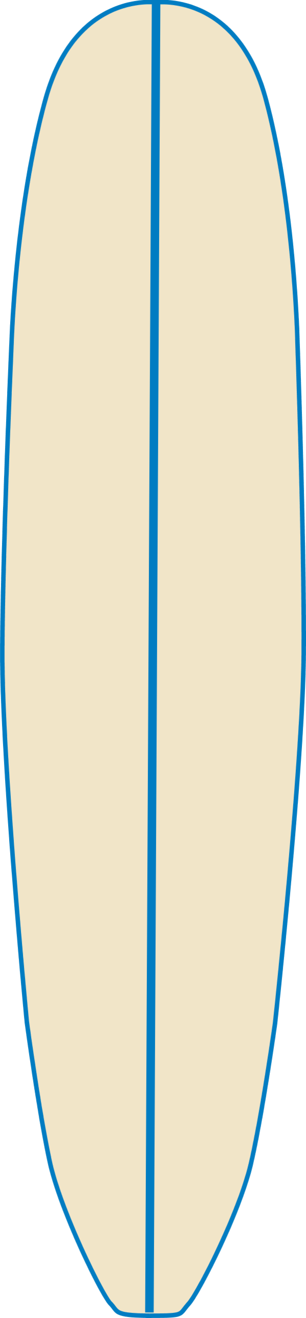 600x2578 Surfboard Clipart Outline