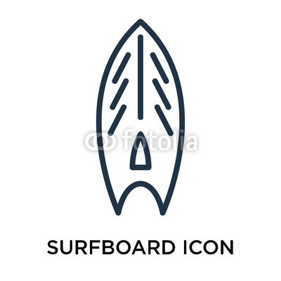 400x400 Surfboard Icon Vector Isolated On White Background, Surfboard Sign