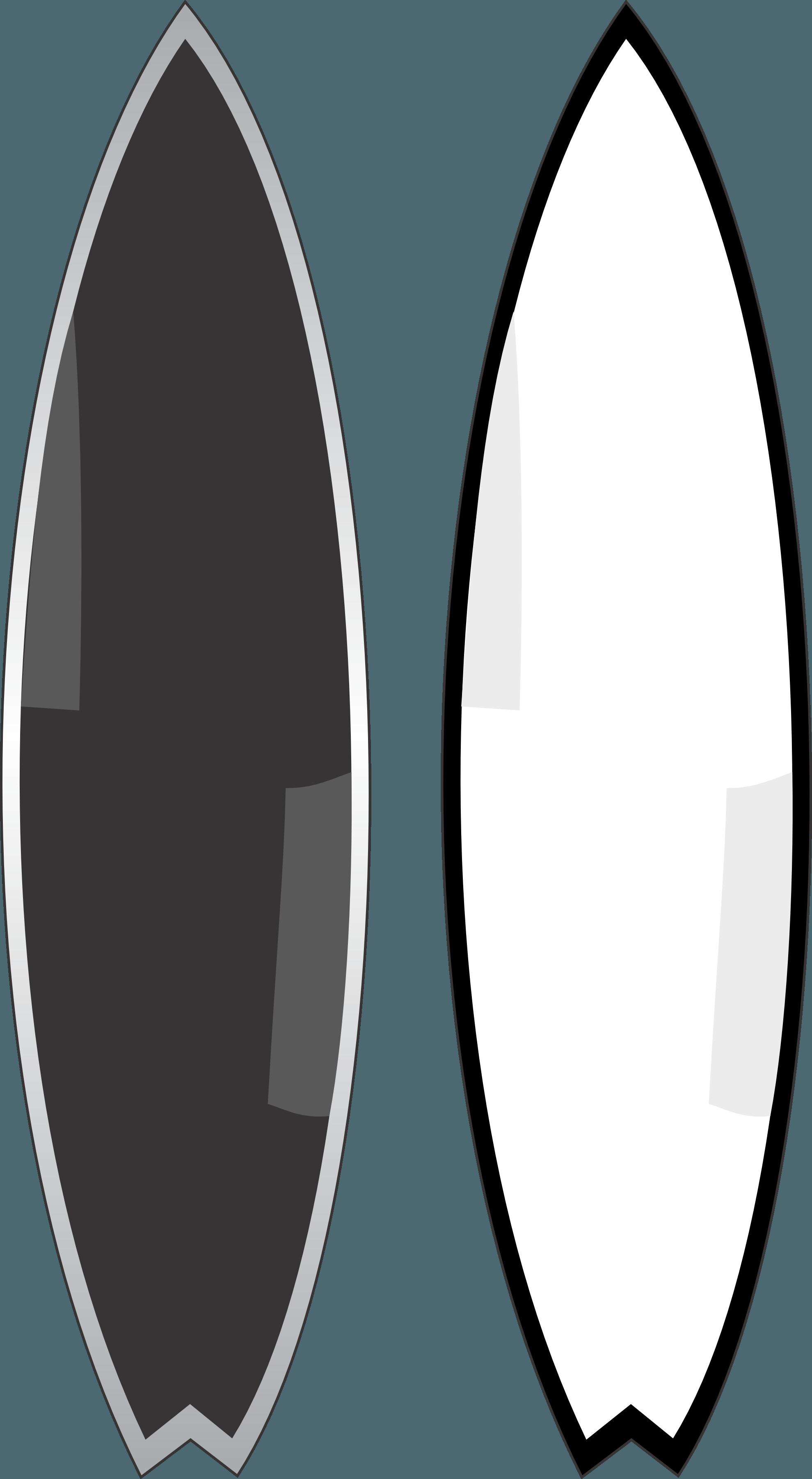 1979x3603 Surfboard Vector