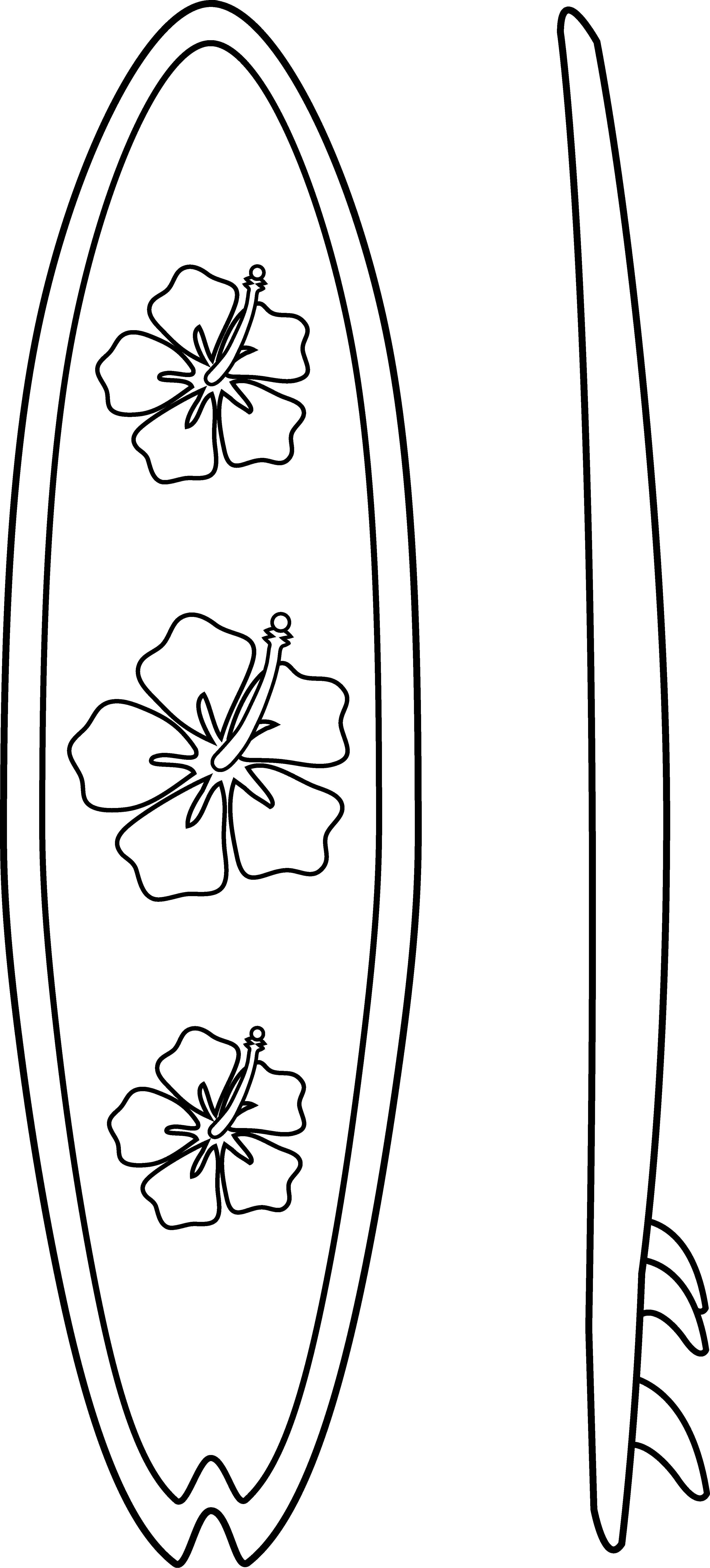 3372x7452 Collection Of Free Surfboard Vector Black And White. Download On