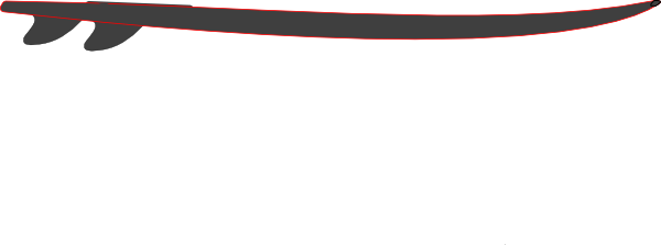 600x223 Collection Of Free Surfboard Vector Horizontal. Download On Ubisafe
