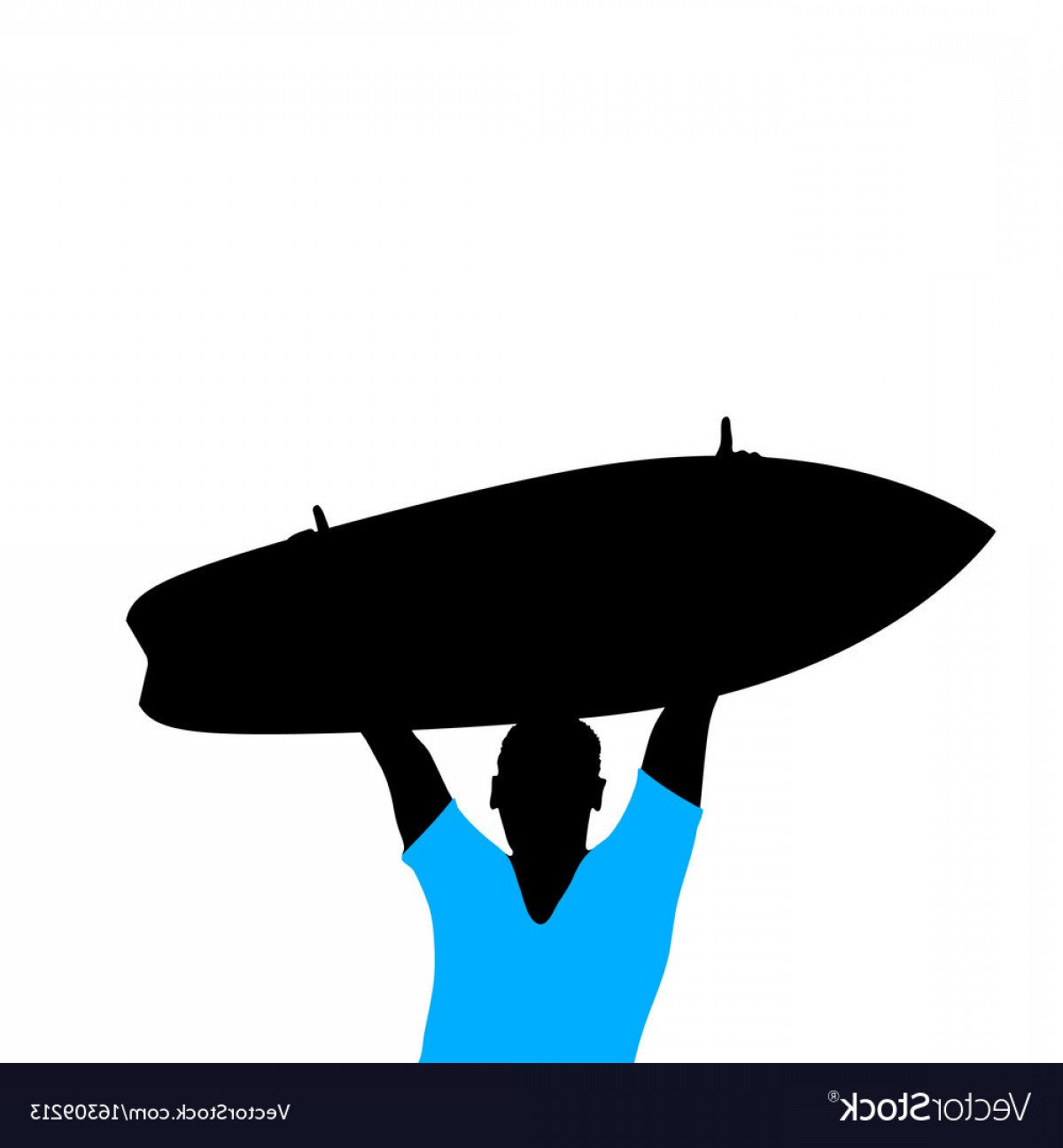 1200x1296 Man Silhouette With Surfboard In Hand Vector Lazttweet