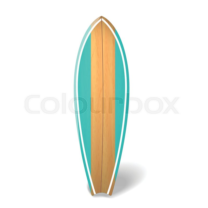 800x800 Wood Surf Board Summer Surfing Isolated Realistic Surfboard